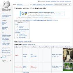 Liste des œuvres d'art de Grenoble