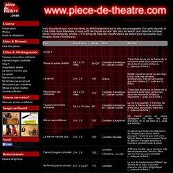 Liste des pieces de théâtre - piece-de-theatre.com