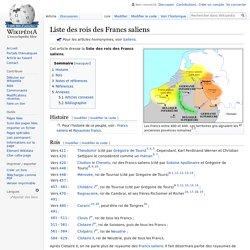 Liste des rois des Francs saliens