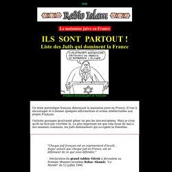 Liste des Juifs qui dominent la France - La mainmise juive en France - Radio Islam