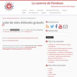 Liste de sites d'ebooks gratuits