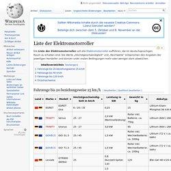 Liste der Elektromotorroller