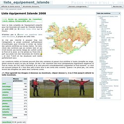 liste_equipement_islande [Pages perso d' oli_v_ier]