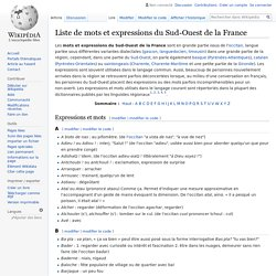 Liste de mots et expressions du Sud-Ouest de la France