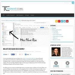 Liste de blogs SEO à télécharger - Thomas Cubel