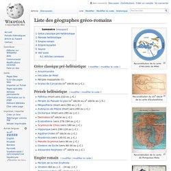 Liste des géographes gréco-romains
