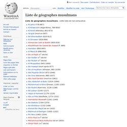 Liste de géographes musulmans