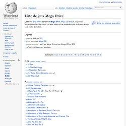 Liste de jeux Megadrive