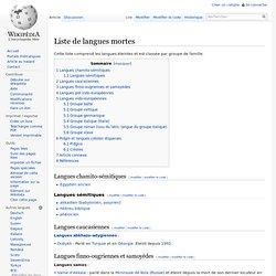 Liste de langues mortes