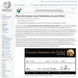 Liste des lauréates du prix Nobel