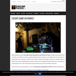 Liste des Live Escape Game en France