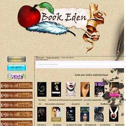 Bookeden : Liste des livres