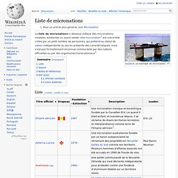 Liste de micronations