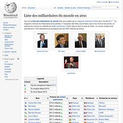 Liste des milliardaires du monde en 2011