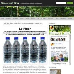 Liste des eaux minérales qui contiennent le plus de fluor
