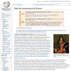 Liste des monarques de France