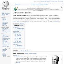 Liste de morts insolites