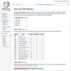 Liste der NFL-Meister