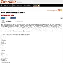 Liste noire test sur animaux