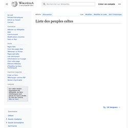 Liste des peuples celtes