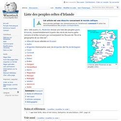 Liste des peuples celtes d'Irlande