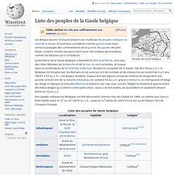 Liste des peuples de la Gaule belgique