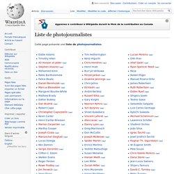 Liste de photojournalistes