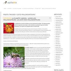 liste pollinisateurs