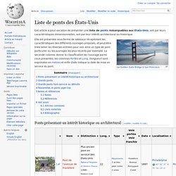 Liste de ponts des États-Unis