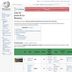 Liste de ponts de La Réunion