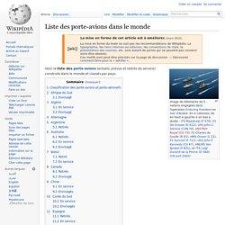 Liste des porte-avions dans le monde