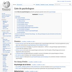 Liste de psychologues
