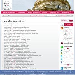 Liste des Sénatrices - Sénat