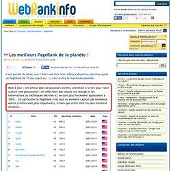 PageRank 10 (PR 10) : les meilleurs PageRank