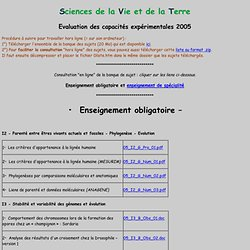 Liste sujets ECE 2005