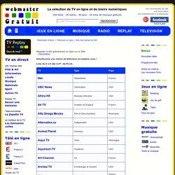 Liste des télévisions en ligne : liste des chaines de télé