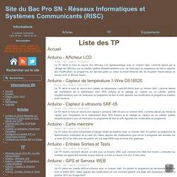Liste des tp