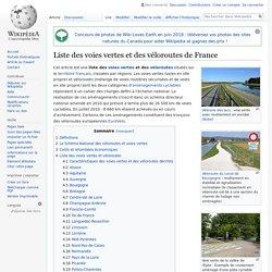 Liste des voies vertes et des véloroutes de France
