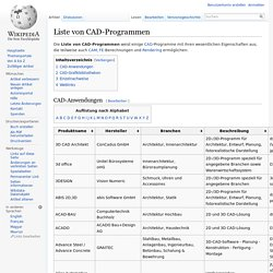 Liste von CAD-Programmen