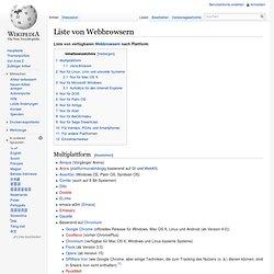 Liste von Webbrowsern