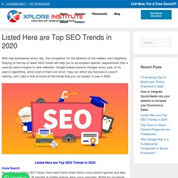 Listed Here are Top SEO Trends in 2020 - Must Read Guide