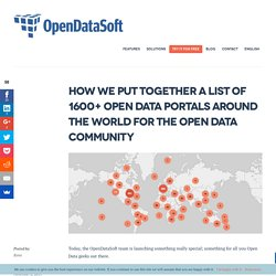 We listed 1600+ Open Data portals around the world! See how!