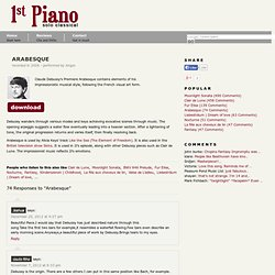 Classical Solo Piano Online » Debussy – Arabesque