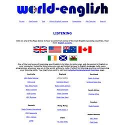 Listen to English around the World.
