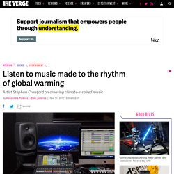Listen to music made to the rhythm of global warming