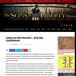 Listen to the Doctors - End the Lockdowns