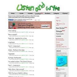 Listen and Write - Dictation