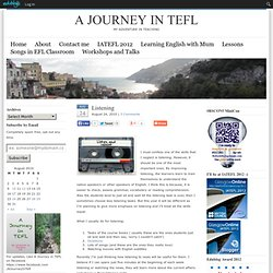 Listening : A Journey in TEFL