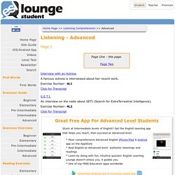 ESL Lounge: Listening - Advanced