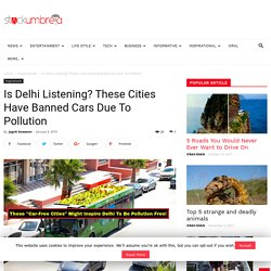 Is Delhi Listening? These Cities Have Banned Cars Due To Pollution